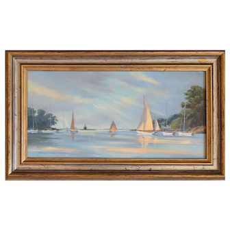 Five Mile River Sunbeam Original Oil Painting by Yves Parent (1941-2011)
