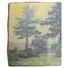 Frank Townsend Hutchens unframed original oil painting (1869-1937)