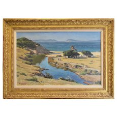 Tangier Beach original oil painting by Maurice Grosser (1903-1986)