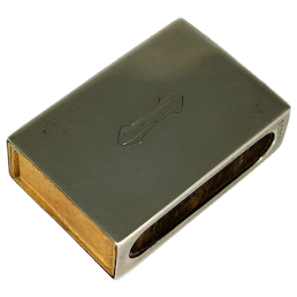 Vintage Gorham Sterling Silver Match Box Cover and Vintage Matches
