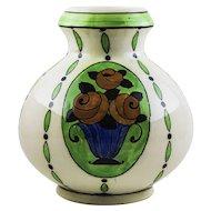 Charles Catteau Boch Keramis art deco vase , Rosa D789,