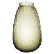 A stunning 1930's French Art Deco smokey glass vase by Schneider