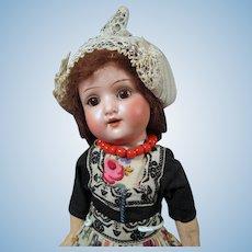 "Shoenau & Hoffmeister German Doll in Original Dutch Costume, 10 3/4"""