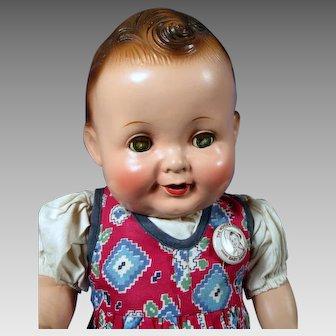 "Baby Sandy Composition Doll by Freundlich, 14 1/2"""