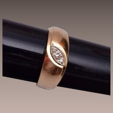 14kt Gold and Diamond Man's Ring
