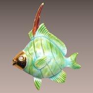 Original by Robert Enameled Fish Brooch