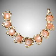 Coro Light Pink Thermoset Bracelet
