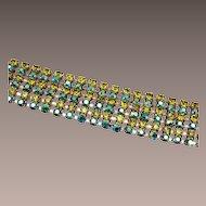 Shades of Green Rhinestone Bracelet