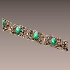 Peking Glass 5 Link Bracelet