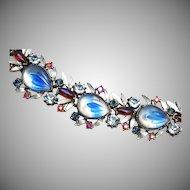 Florenza Molded Givre' Glass Bracelet