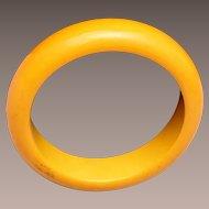 Butterscotch Bakelite Bangle Bracelet