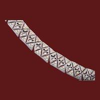 Pierced Metal Art Deco Bracelet