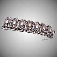 1950's Napier Silver Tone Gorgeous Bracelet