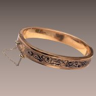 Bates and Bacon Taille D'Epergne Gold Filled Hinged Bangle Bracelet