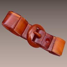 Baltic Amber Buckle Bracelet