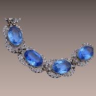 Blue Open Backed Crystal Bracelet