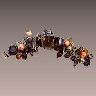 Alice Caviness Glass Bead, Crystal and Rhinestone Bracelet