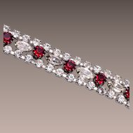 Red and Clear Rhinestone Bracelet