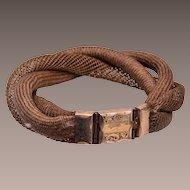 Mourning Hair Bracelet Woven in 3 Patterns