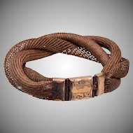 Gorgeous Mourning Hair Bracelet Woven in 3 Patterns