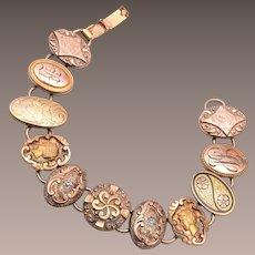 Gold Filled Cuff Link / Cufflink Bracelet