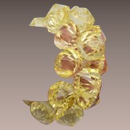 Yellow Lucite Diamond Stretch Bracelet