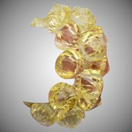 Yellow Lucite Diamond Stretch Bracelet