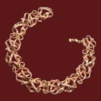 14kt Gold Open Link Bracelet