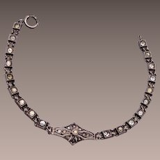 "Sterling ""G"" Art Deco Bracelet"