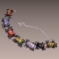 Colorful Art Glass Bracelet