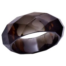 Faceted Lucite Bangle Bracelet