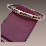 Mobius Strip Lords Prayer Bracelet