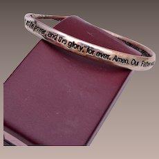 Mobius Strip Lords Prayer Bracelet