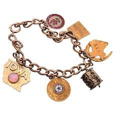 Gold Filled and Vermeil Sterling Charm Bracelet 1965