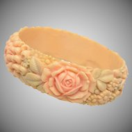 "1"" Molded Celluloid Flower Bracelet"