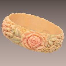 """1"""" Molded Celluloid Flower Bracelet"""