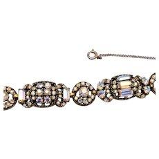Hollycraft 1955 AB Rhinestone Bracelet