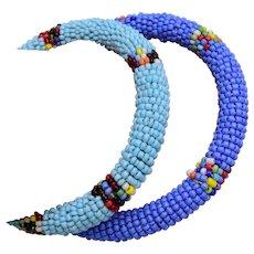 Hand Beaded Bangle Bracelets