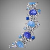 Coro with Pegasus Blue Thermoset Bracelet