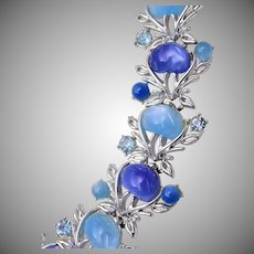 Coro with Pegasus Blue Thermoset Bracelet