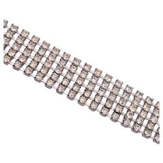 5 Row Clear Rhinestone Bracelet