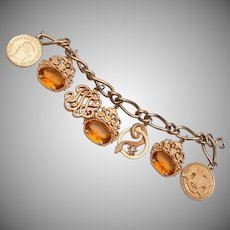 Beautiful Topaz Stone Charm Bracelet