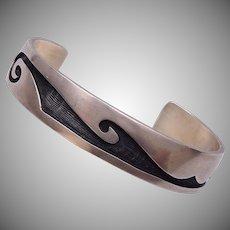 Sterling Hopi Indian Cuff Bracelet