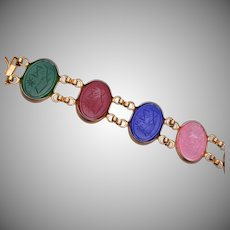 Colorful Lucite Scarab Bracelet