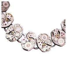 Beautiful Watch Movement Steam Punk Bracelet