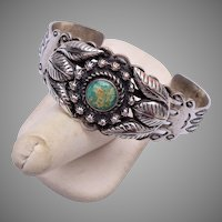 Southwestern Turquoise and Silver Cuff Bracelet
