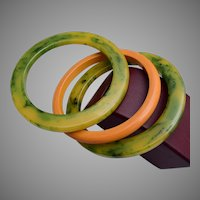 3 Bakelite Bangle Bracelets
