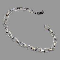Art Deco Pave' Rhinestone Bracelet