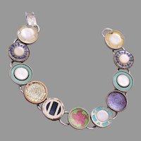 Celluloid Cuff Link Bracelet