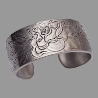 June Salisbury Pewter Flower of the Month Cuff Bracelet